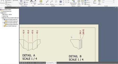 Special Dimensions for Inventor Drawing Details