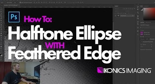 How to Create Halftone Ellipse w/ Feathered Edge
