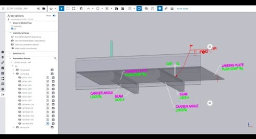 Tekla Structures 2021- Publish Drawing Annotations to Trimble Connect