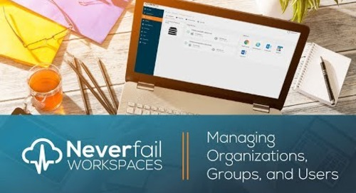 Neverfail Workspaces: Managing Organizations, Groups and Users