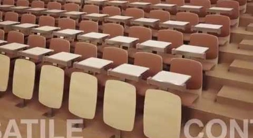Customizable Collaborative Fixed Seating for Classroom Auditoriums