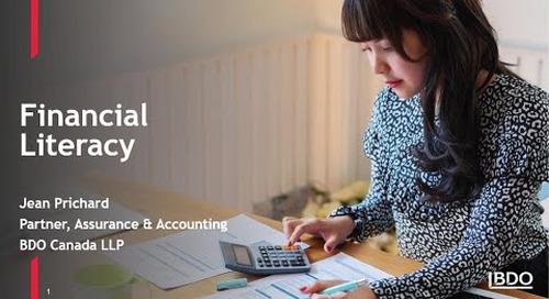 Financial literacy for NPO boards | BDO Canada