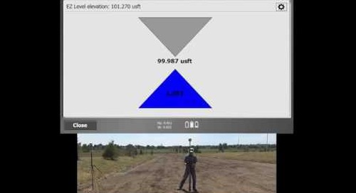 How to use Trimble's EZ Level feature in SCS900