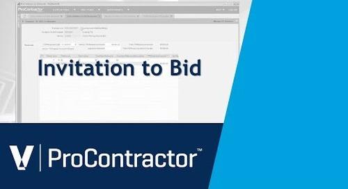 ProContractor Invitiation to Bid