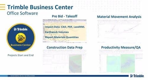Trimble Connected Construction | Trimble Business Center (TBC ) Overview