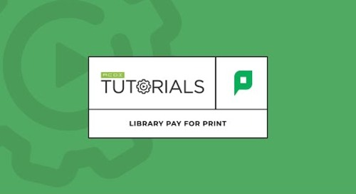 Library Pay For Print with PaperCut MF