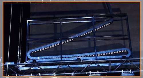zig-zag igus cable management in theater applications
