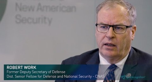 Secretary Robert O. Work on Artificial Intelligence in the Hyperwar Era