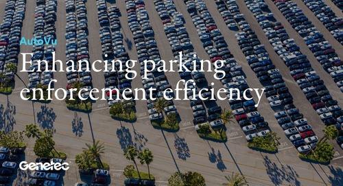 Enhancing parking enforcement efficiency with AutoVu