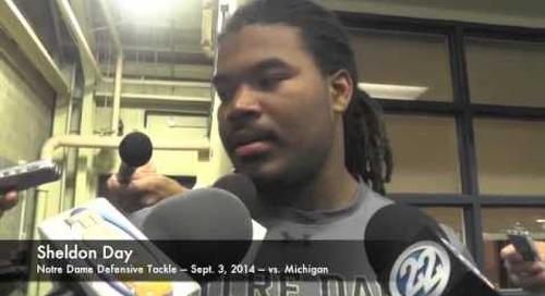 Notre Dame DT Sheldon Day - vs. Michigan - 9/3/14