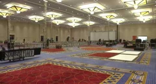 Corporate Event Setup time-lapse Video Innovation Celebration