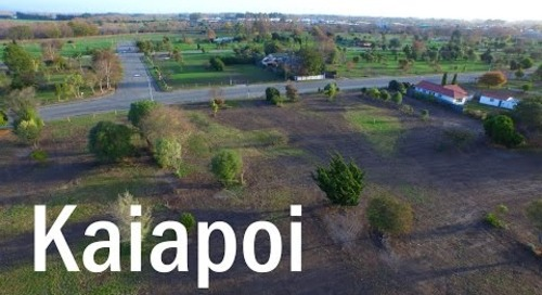 Kaiapoi Then and Now - A Drone's Eye View   DJI Inspire 1 4K
