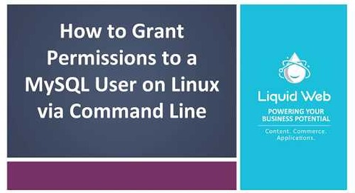 Grant Permissions to a MySQL User on Linux via Command Line