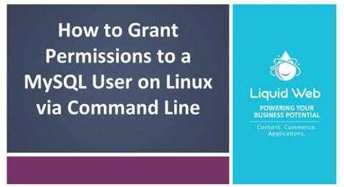 Grant Permissions to a MySQL User on Linux via Command Line
