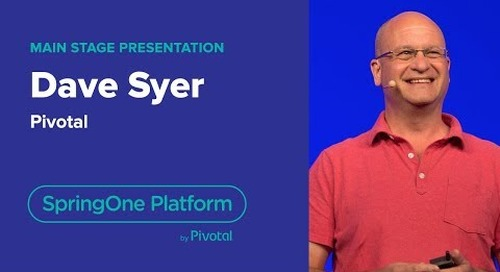 Dave Syer, Vmware Tanzu — Choosing Software Abstractions, SpringOne Platform 2019