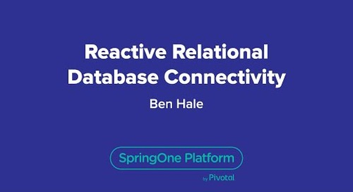 Reactive Relational Database Connectivity