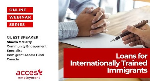 Loans for Internationally Trained Immigrants