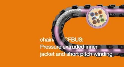 Bus cables designed for continuous-flex