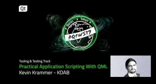 Practical application scripting with QML