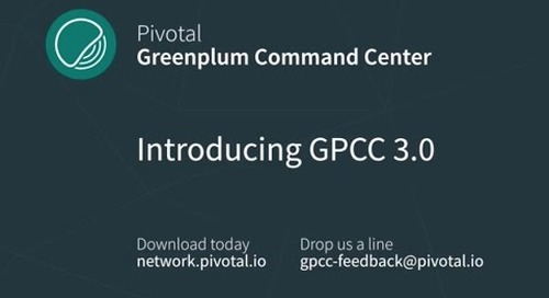 Introducing Greenplum Command Center 3.0