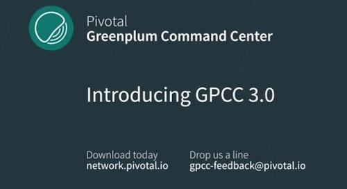 Introducing Greenplum Command Center 3.0