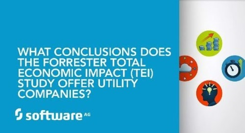 What conclusions does the Forrester Total Economic Impact (TEI) Study offer Utility companies?