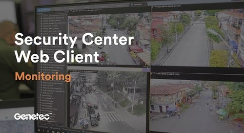 Security Center web client: Monitoring