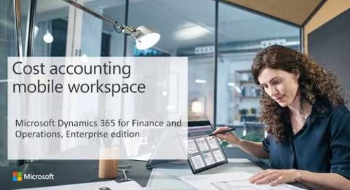 Cost accounting mobile workspace