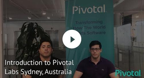 APJ - Sydney - Introducing Pivotal Labs