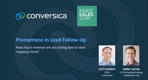 Webinar: Promptness - How much revenue are YOU losing due to slow response time?
