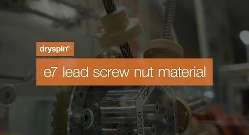 drylin® dryspin - e7 lead screw nut material