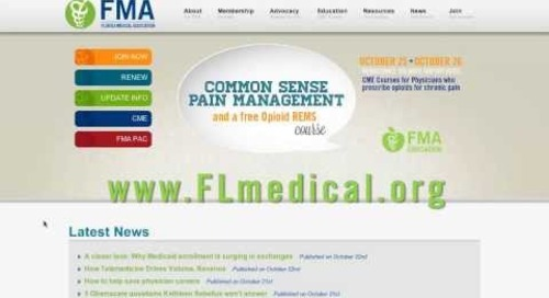 FMA's website redesign