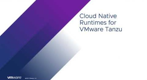 Overview of Cloud Native Runtimes for VMware Tanzu