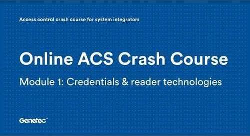 Module 1: Credentials & reader technologies (Video)