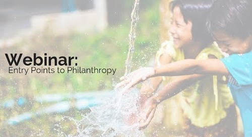 Entry Points to Philanthropy