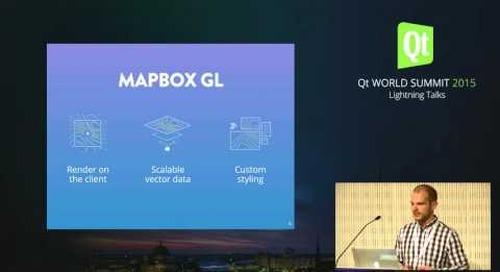 QtWS15- Lightning Talk, Qt & Mapbox, Konstantin Käfer, Mapbox