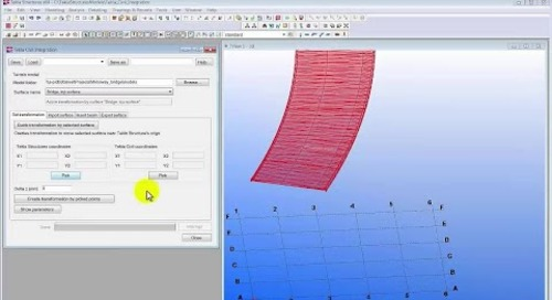 Sharing Surface Models Between Tekla Structures and Tekla Civil