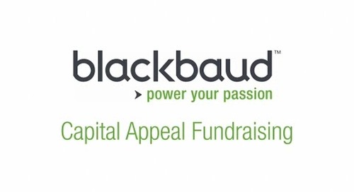 Education Institutions: capital appeal fundraising