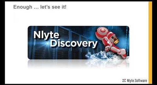 New Product Demo: Nlyte Discovery - Webinar Recording