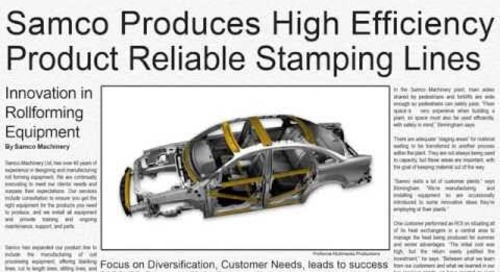 Samco Machinery Video News: Samco Manufactures Stamping Lines for Multiple Industries