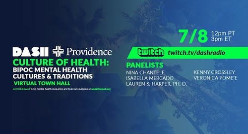 BIPOC Mental Health Town Hall - Cultures and Traditions