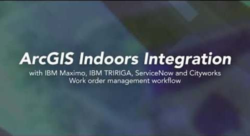 ArcGIS Indoors work order management workflow