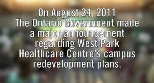 West Park Healthcare Centre Campus Redevelopment Funding Announcement