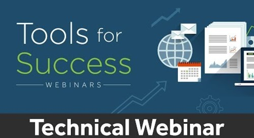 Tools for Success | ACDI Technical Webinar