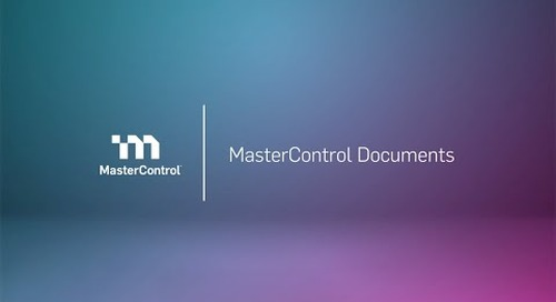 Demo: MasterControl Document Control Software