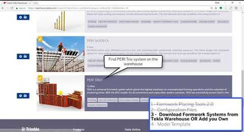 Download and Setup Formwork Placing Tools 2017i 1