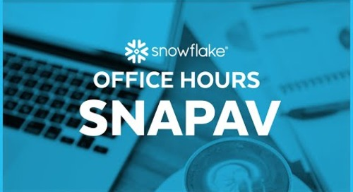 Snowflake Office Hours: SnapAV