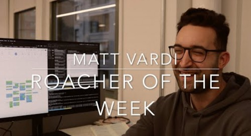 Roacher of the Week: Matt Vardi, Technical Support Engineer at Cockroach Labs
