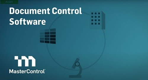 MasterControl Document Control Software Demo