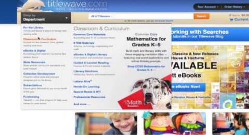 Narrowing Search Results Using Curriculum Tags in Titlewave